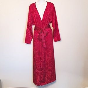 Victoria's Secret Vintage Robe Long Red S New